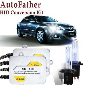 55w Hid Conversion Kit H1 Xenon Headlight Bulbs Low Beam For Mazda 6 2003 2008