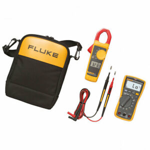 Fluke 117 Multimeter Kit2t With 323 Clamp Meter And Tl175 Test Leads Case