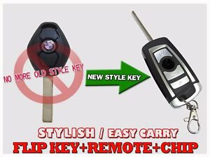 New Style Flip Key Remote For Ews Bmw Virgin Chip Transponder Fob