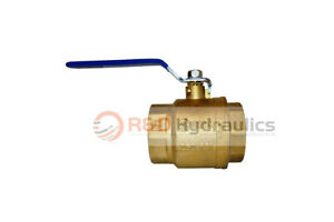 4 Full Port Brass Ball Valve