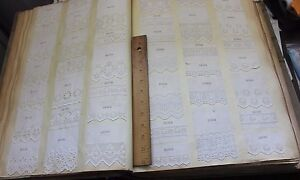 Antique Swiss Embroidery Whitework Sample Book 1400 Samples C1910 20 20 X13 5