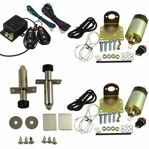 Door Popper Kit For 2 Door With 2 Remotes 80 Lbs Popper System Easy Install