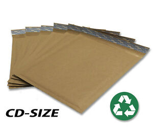 Size cd 7 25 x7 Recycled Natural Brown Kraft Bubble Mailer usa Made