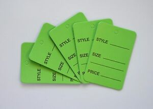 5000 Green Merchandise Price Jewelry Garment Store Paper Small Tags 4 5x2 5cm