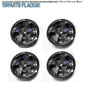 14 6 Vintage Hurst Wheels Style Set Of 4 Gm 14x6 With Spinner Cap