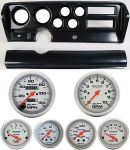 70 72 Gto Carbon Dash Carrier W Auto Meter Ultra Lite Mechanical Gauges