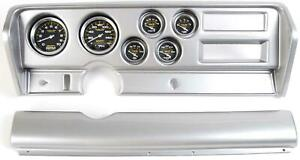 70 72 Gto Silver Dash Carrier W Auto Meter Carbon Fiber Gauges