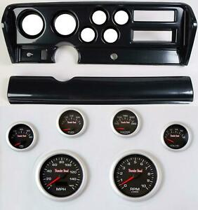 70 72 Gto Carbon Dash Carrier Concourse Black Face Gauges