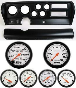 70 72 Gto Black Dash Carrier W Auto Meter Phantom Mechanical Gauges