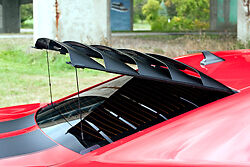 Rear Window Louver Aluminum W Prop Rod Kit 12a144 For Chevy Camaro 2010 2015
