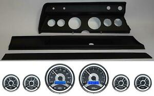 67 Chevelle Black Dash Carrier Panel W Dakota Digital Vhx Universal 6 Gauge