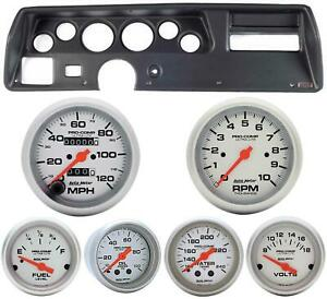 70 72 Chevelle Ss Black Dash Carrier W Auto Meter Ultra Lite Mechanical Gauges