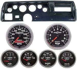 70 72 Chevelle Ss Carbon Dash Carrier W Auto Meter Sport Comp Ii Gauges