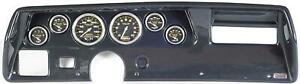 70 72 Chevelle Ss Carbon Dash Carrier W Auto Meter Carbon Fiber Gauges
