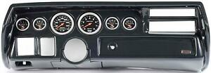 70 72 Chevelle Sweep Carbon Dash Carrier Auto Meter Sport Comp Electric Gauges