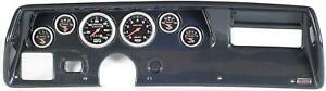 70 72 Chevelle Ss Carbon Dash Carrier W Auto Meter Sport Comp Mechanical Gauges