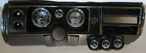 68 Chevelle Carbon Dash Carrier W Auto Meter 5 American Muscle Gauges No Astro