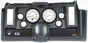 69 Camaro Black Dash Carrier W Auto Meter Phantom Electric 5 Gauges