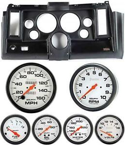 69 Camaro Black Dash Carrier W Auto Meter Phantom Mechanical 5 Gauges