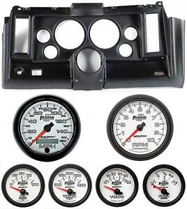 69 Camaro Black Dash Carrier W Auto Meter Phantom Ii 5 Gauges