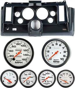 69 Camaro Carbon Dash Carrier W Auto Meter Phantom Mechanical 5 Gauges