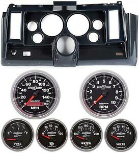 69 Camaro Carbon Dash Carrier W Auto Meter Sport Comp Ii 5 Gauges