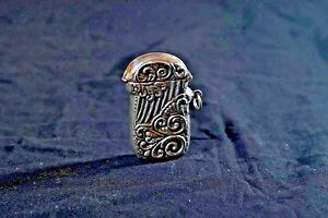 Sterling Silver Art Nouveau Match Safe Vesta Case Weighs 35g Ac