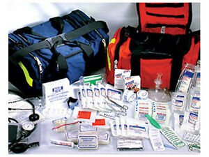 First Responder Paramedic Emt Trauma Emergency Medical Kit Fully Stocked Blue
