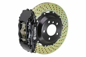 Brembo Gt Brake Kit Front 332mm 2 Pc Drilled 4 Piston Black V70 V70r 01 07 S60