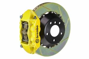Brembo Gt Brake Kit Rear 345mm 2 Pc Slotted 4 Pot Yellow 981 1 Boxster Spyder 16