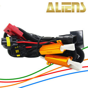 Hid Conversion Kit Relay Harness H1 H7 H8 H9 H11 9005 9006 W Resistors 50w 6ohm