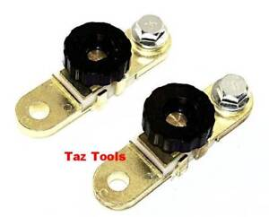 2 Pcs Battery Link Terminal Quick Cut Off Disconnect Kill Shut Switch Side Post