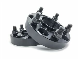 2 Mustang Black Hubcentric Wheel Spacers 1 Inch Gt Ecoboost 2015 2016 2017 2018