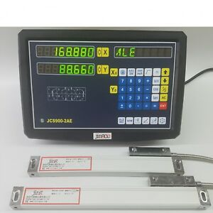 2 Axis Dro Digital Readout For Milling Lathe Machine With Linear Scale