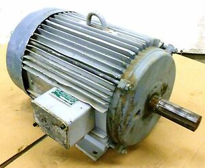 Unknown Brand Motor 15 Hp 230 460 Volts 254t Frame 3 Phase 1750 Rpm