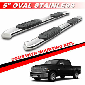 5 Curved Running Boards For 2010 2018 Dodge Ram 2500 3500 Crew Cab Side Steps