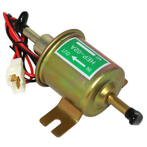 New Electric Fuel Pump For Motorcycle Low Pressure 12v Carburetor Fp 02 Atv