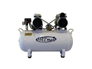 2hp 12 Gallon Oil Free Noiseless Dental Air Compressor 110v