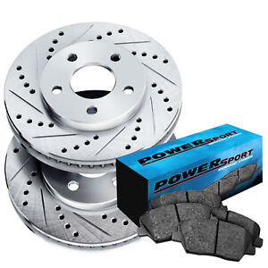 Fit 2002 2004 Honda Odyssey Rear Drill Slot Brake Rotors Ceramic Brake Pads