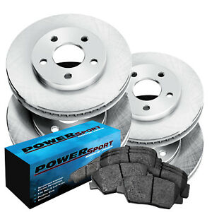 Fit 1986 1988 Volkswagen Quantum Front Rear Plain Brake Rotors semi met Pads