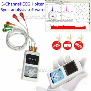 Contec 3 channel 24 Holter Monitor Ecg ekg System Machine pacemaker Analyzer