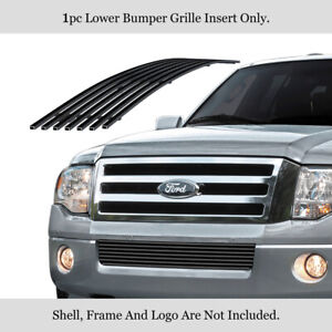 Fits 2007 2014 Ford Expedition Bumper Black Stainless Steel Billet Grille
