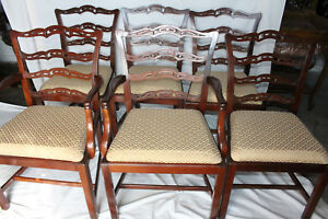 Great Set Of Six Chippendale Mahogany Dining Chairs 2 Armchairs 4 Side Chairs