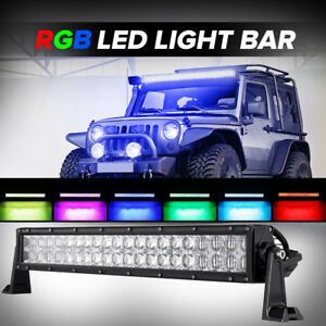 5d 22inch 280w Rock Cree Led Light Bar Multicolor Offroad Truck Atv Hunting 24