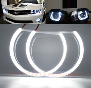 Cotton Led 2 Halo Rings For Chevrolet Camaro 2010 2015 Headlight Angel Eyes Drl