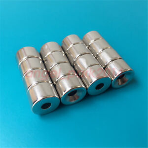 Wholesale 15mm X 10mm Hole 5mm Strong N50 Round Neodymium Countersunk Magnets