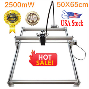 50 65cm 2500mw Diy Desktop Laser Engraving Machine Cutter Printer Engraver Usa