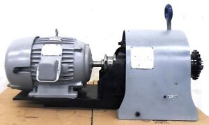 Us Electric Motor 7 1 2hp 254u Frame 9 1243 00 16 Falk Reducer 53 4ez2 06a6
