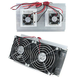 Thermoelectric Cooler Peltier Refrigeration Cooling Tec System Kits Double Fan D