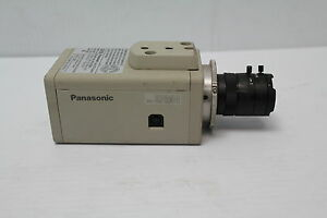Panasonic Wv cp234 Color Cctv Securty Camera With 3 5 8mm Computar Lens Used
